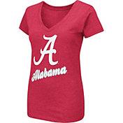 Colosseum Women's Alabama Crimson Tide Crimson Dual Blend V-Neck T-Shirt
