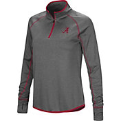 Colosseum Women's Alabama Crimson Tide Grey Stingray Quarter-Zip Shirt