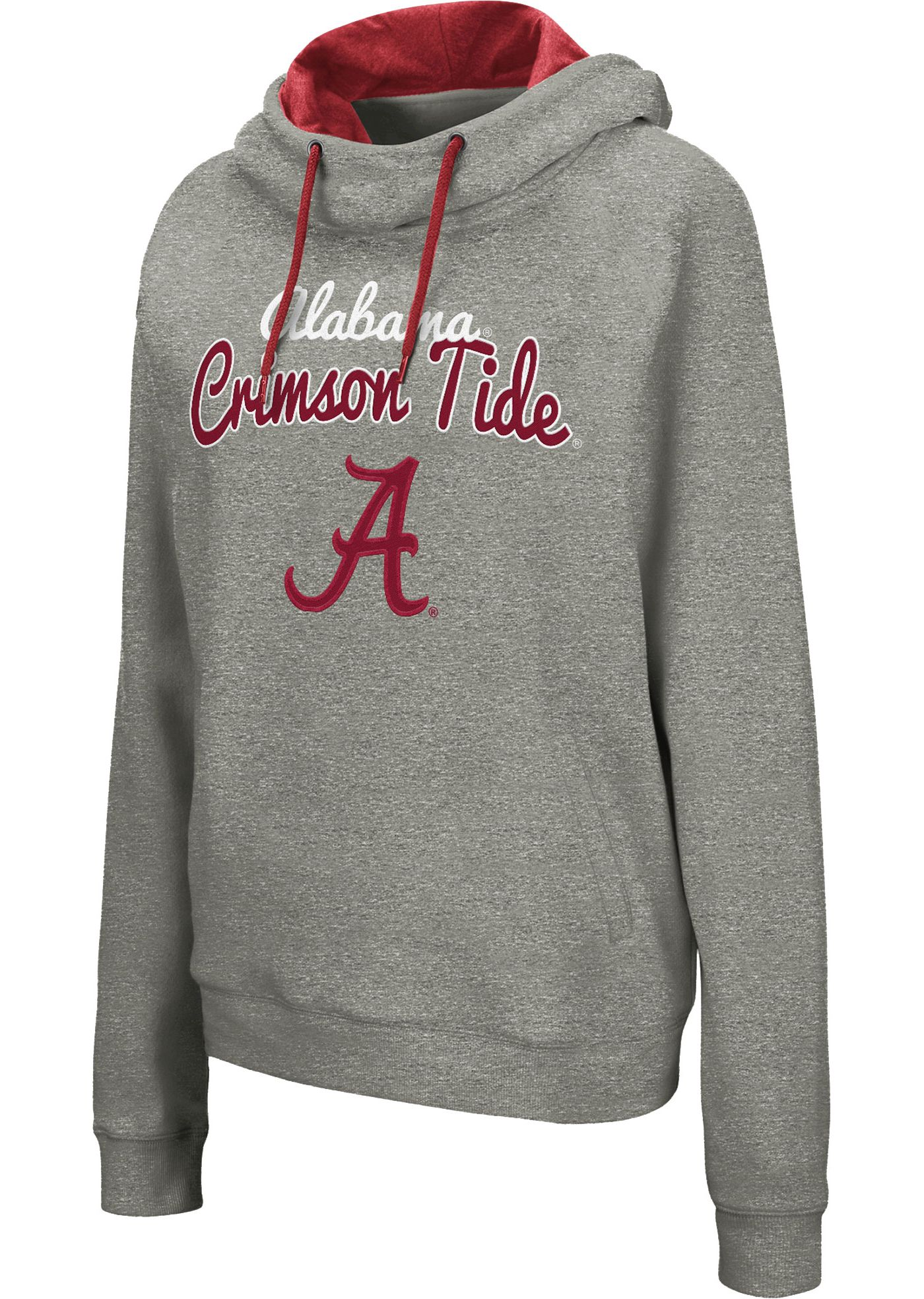 Colosseum Women's Alabama Crimson Tide Grey Studio Funnel Pullover Hoodie