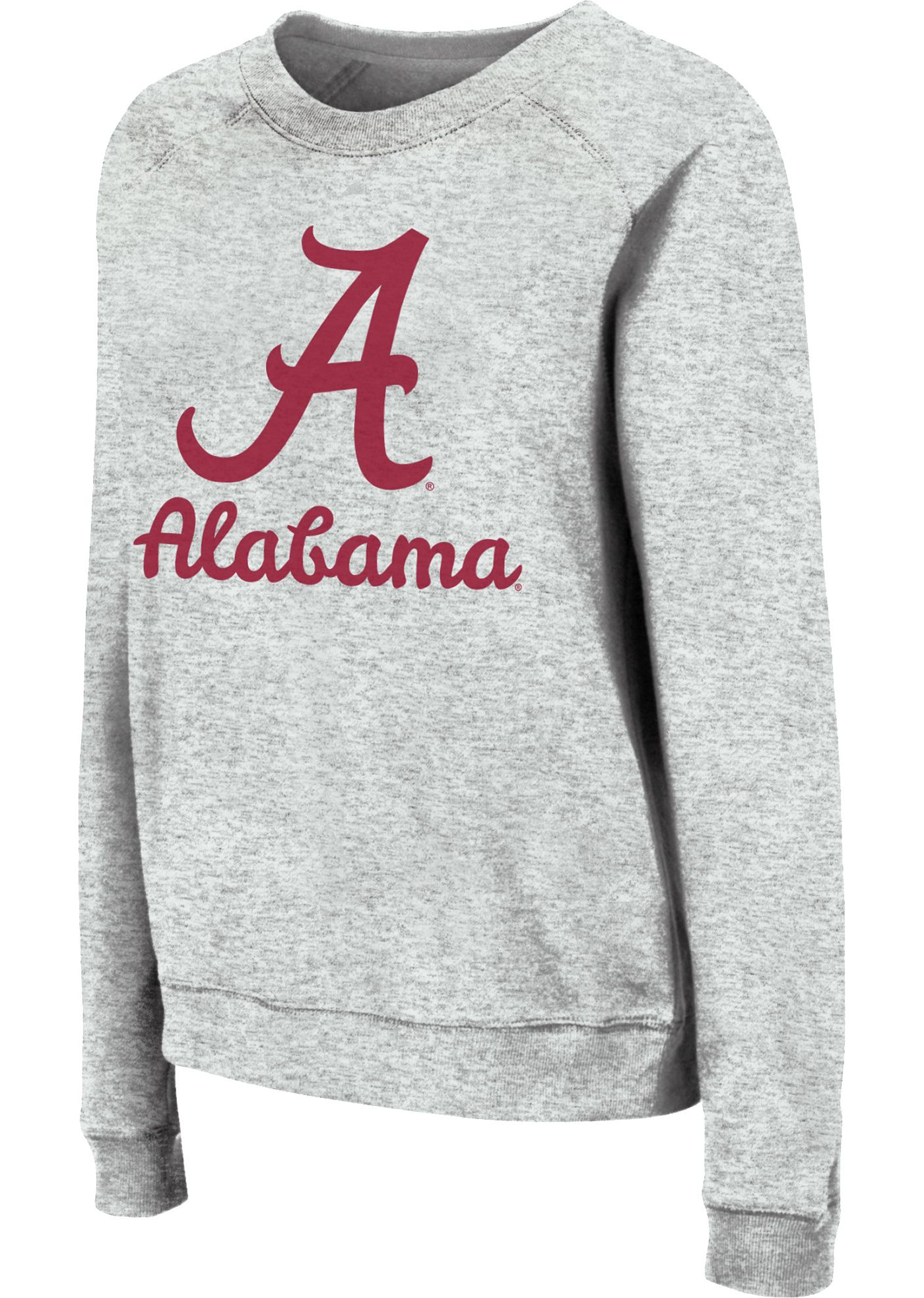 Colosseum Women's Alabama Crimson Tide Grey Tiger Pullover Sweatshirt