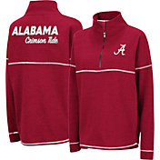 Colosseum Women's Alabama Crimson Tide Crimson Horsetail Half-Zip Shirt