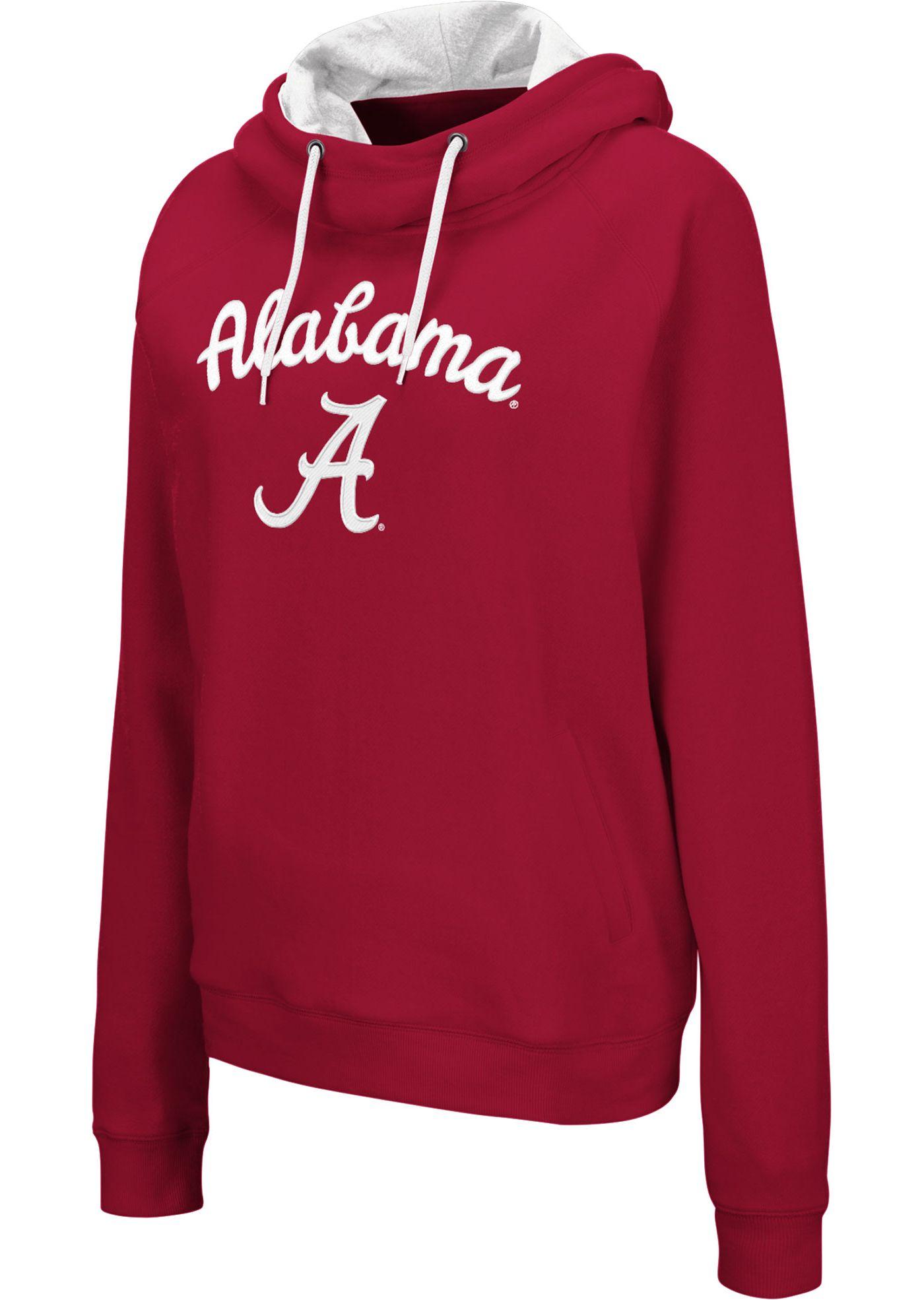 Colosseum Women's Alabama Crimson Tide Crimson Louise Pullover Sweatshirt