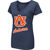 Colosseum Women's Auburn Tigers Blue Dual Blend V-Neck T-Shirt