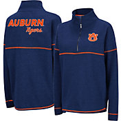 Colosseum Women's Auburn Tigers Blue Horsetail Half-Zip Shirt