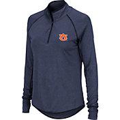 Colosseum Women's Auburn Tigers Blue Quarter-Zip Shirt