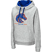 Colosseum Women's Boise State Broncos Grey Lily Funnel Neck Pullover Hoodie