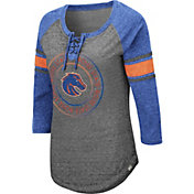 Colosseum Women's Boise State Broncos Grey Carrie Long Sleeve T-Shirt