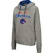 Colosseum Women's Boise State Broncos Grey Studio Funnel Pullover Hoodie