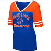 Colosseum Women's Boise State Broncos Blue Samantha T-Shirt