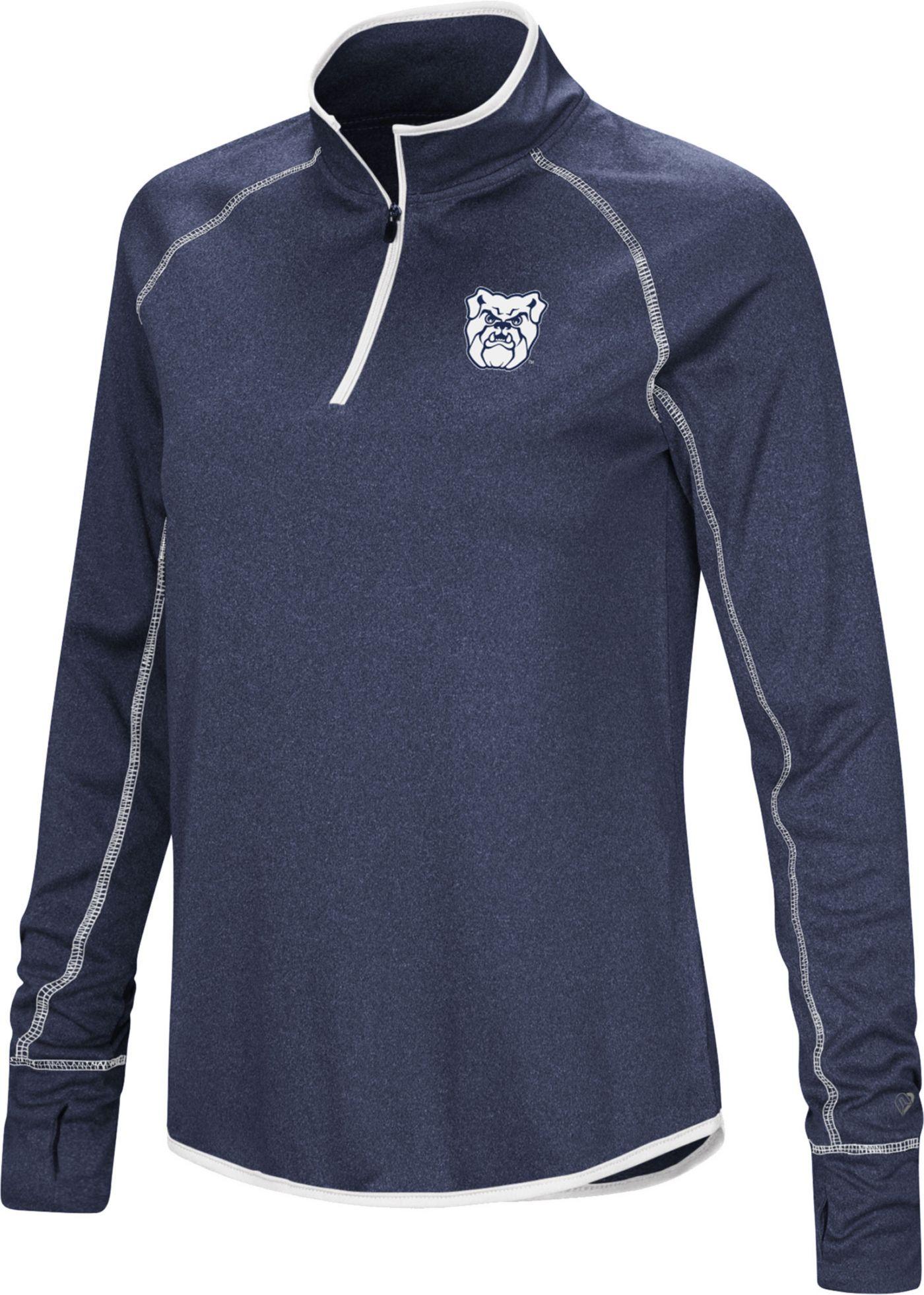 Colosseum Women's Butler Bulldogs Blue Stingray Quarter-Zip Shirt