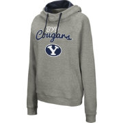 Colosseum Women's BYU Cougars Grey Studio Funnel Pullover Hoodie