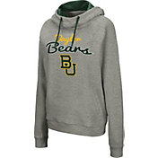 Colosseum Women's Baylor Bears Grey Studio Funnel Pullover Hoodie