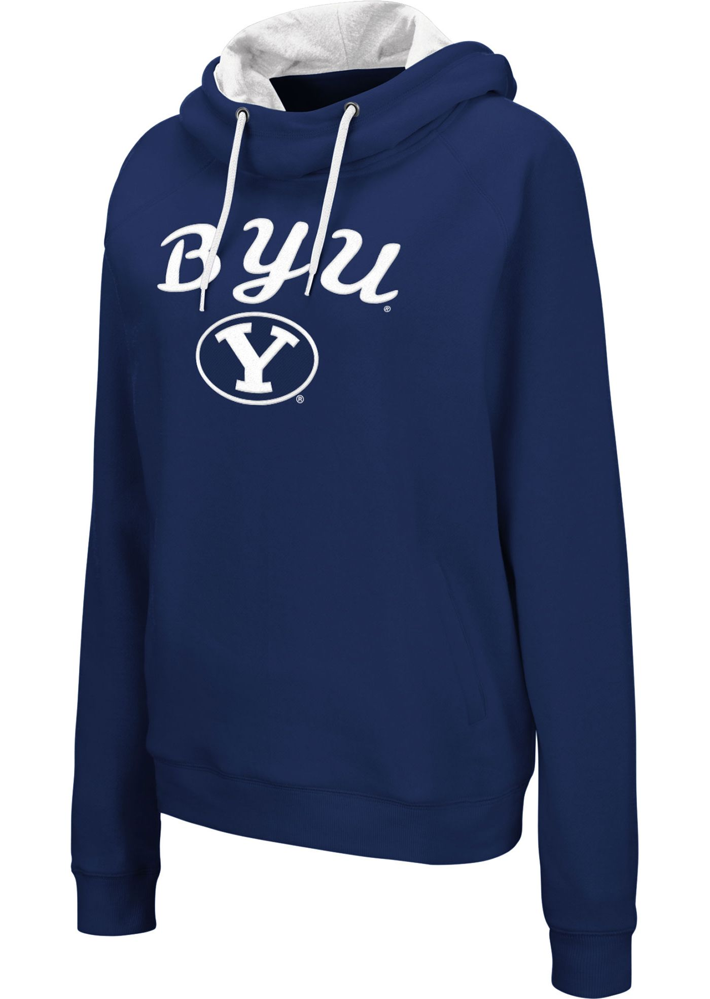 Colosseum Women's BYU Cougars Blue Louise Pullover Sweatshirt