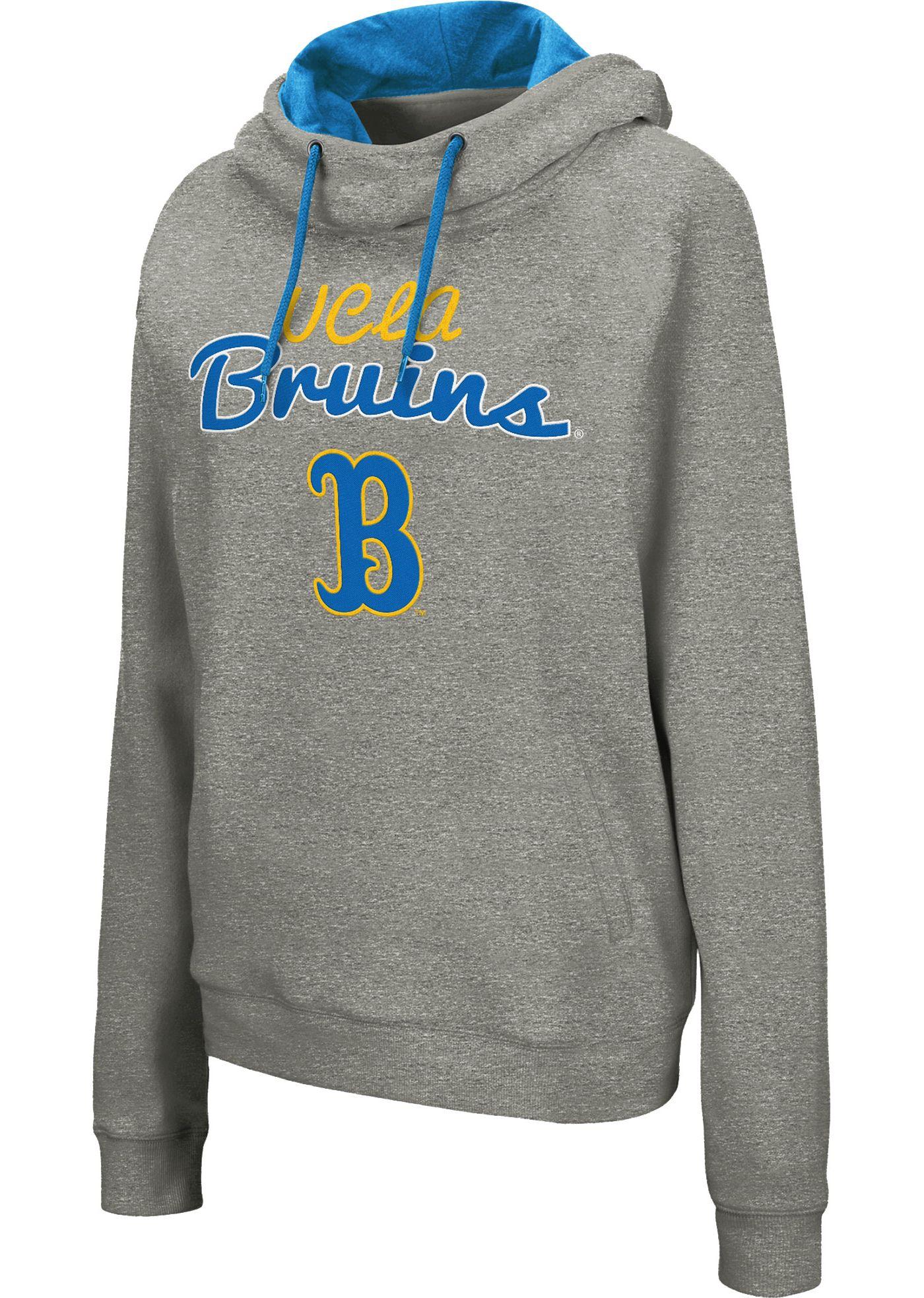 Colosseum Women's UCLA Bruins Grey Studio Funnel Pullover Hoodie