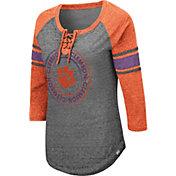 Colosseum Women's Clemson Tigers Grey Carrie Long Sleeve T-Shirt