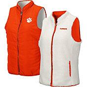 Colosseum Women's Clemson Tigers Orange Blatch Reversible Full-Zip Vest