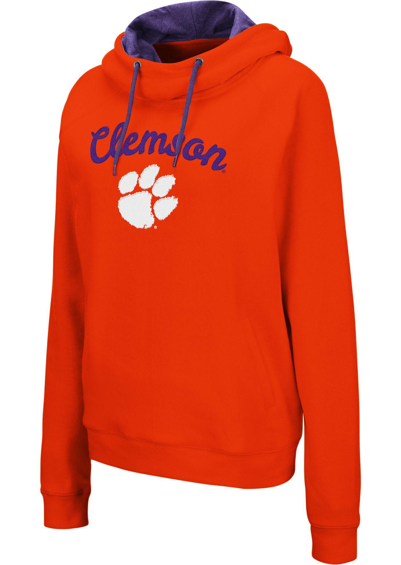 Colosseum Women's Clemson Tigers Orange Louise Pullover Sweatshirt