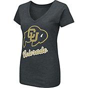 Colosseum Women's Colorado Buffaloes Dual Blend V-Neck Black T-Shirt