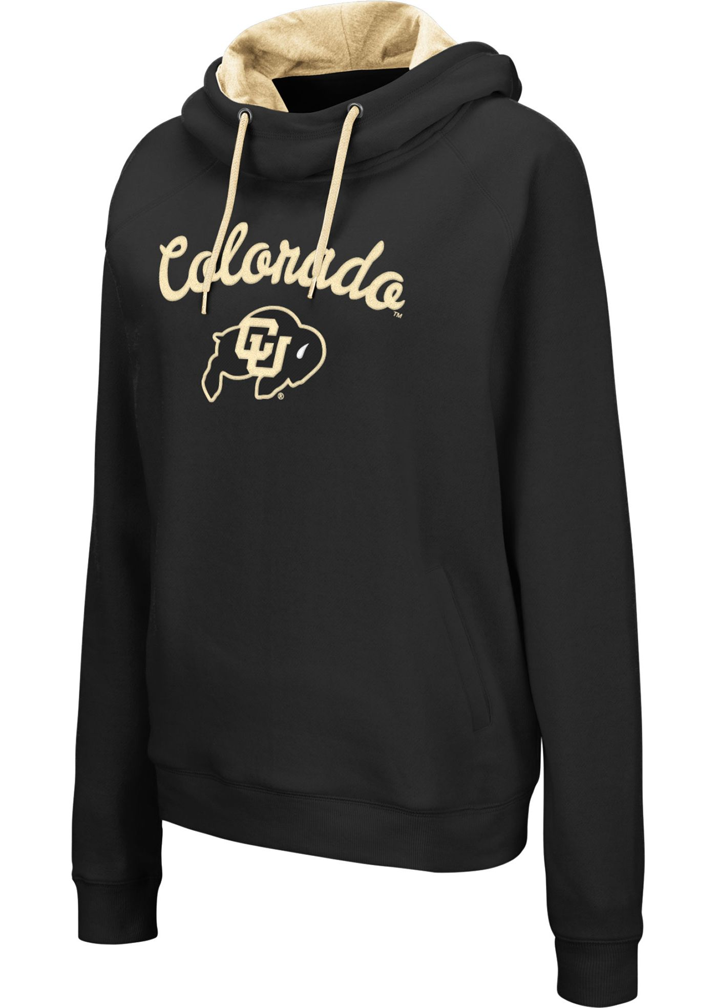 Colosseum Women's Colorado Buffaloes Louise Pullover Black Sweatshirt