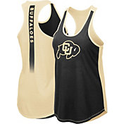 Colosseum Women's Colorado Buffaloes Black/Gold Publicist Tank Top
