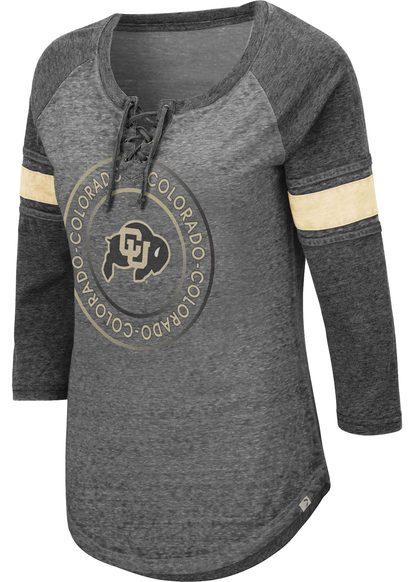 Colosseum Women's Colorado Buffaloes Grey Carrie Long Sleeve T-Shirt