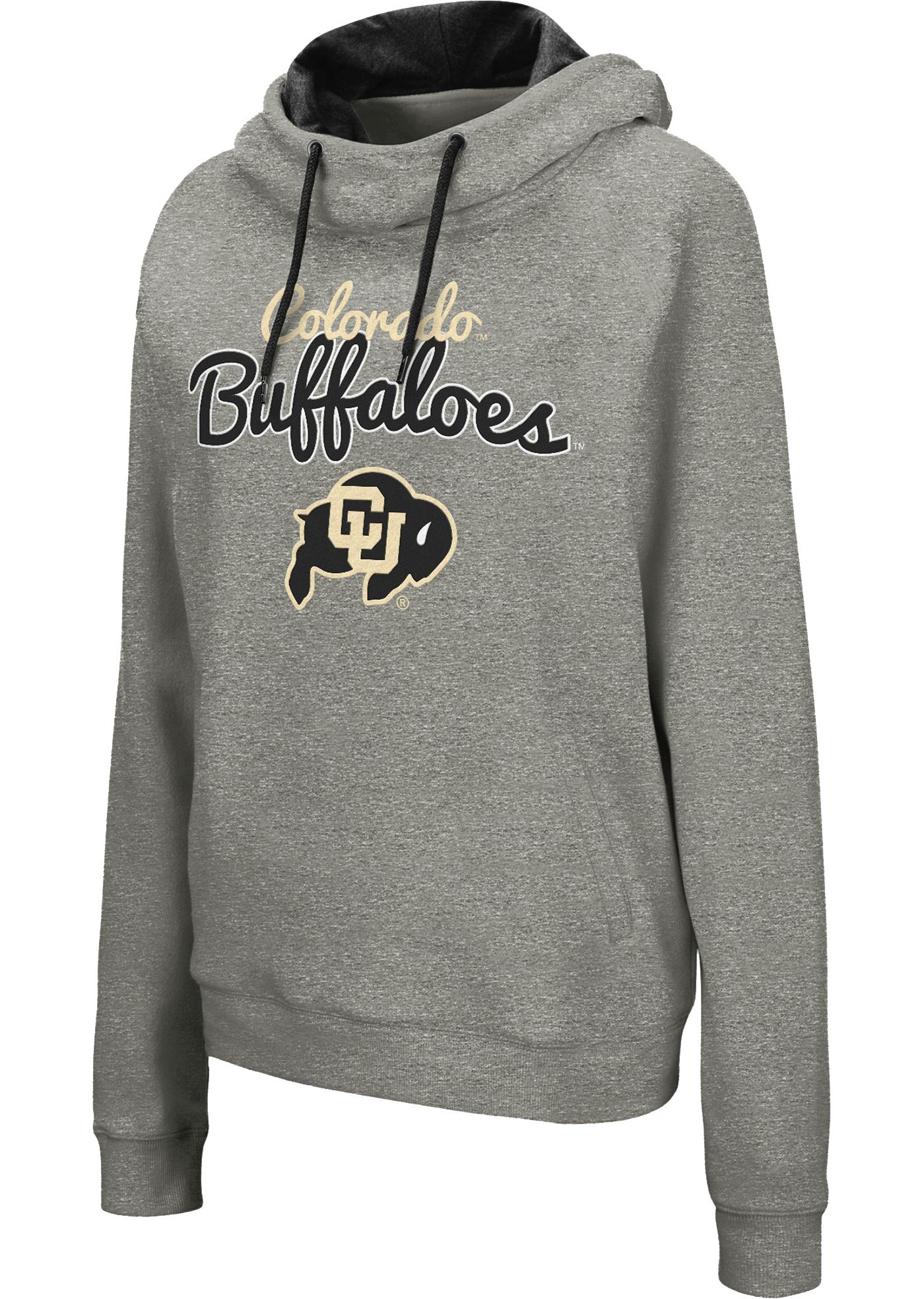 Colosseum Women's Colorado Buffaloes Grey Studio Funnel Pullover Hoodie