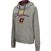 Colosseum Women's Central Michigan Chippewas Grey Studio Funnel Pullover Hoodie