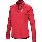 Colosseum Women's Cincinnati Bearcats Red Stingray Quarter-Zip Shirt