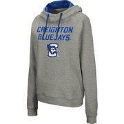 Colosseum Women's Creighton Bluejays Grey Studio Funnel Pullover Hoodie