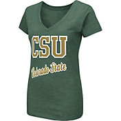 Colosseum Women's Colorado State Rams Green Dual Blend V-Neck T-Shirt