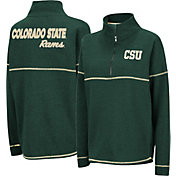 Colosseum Women's Colorado State Rams Green Horsetail Half-Zip Shirt