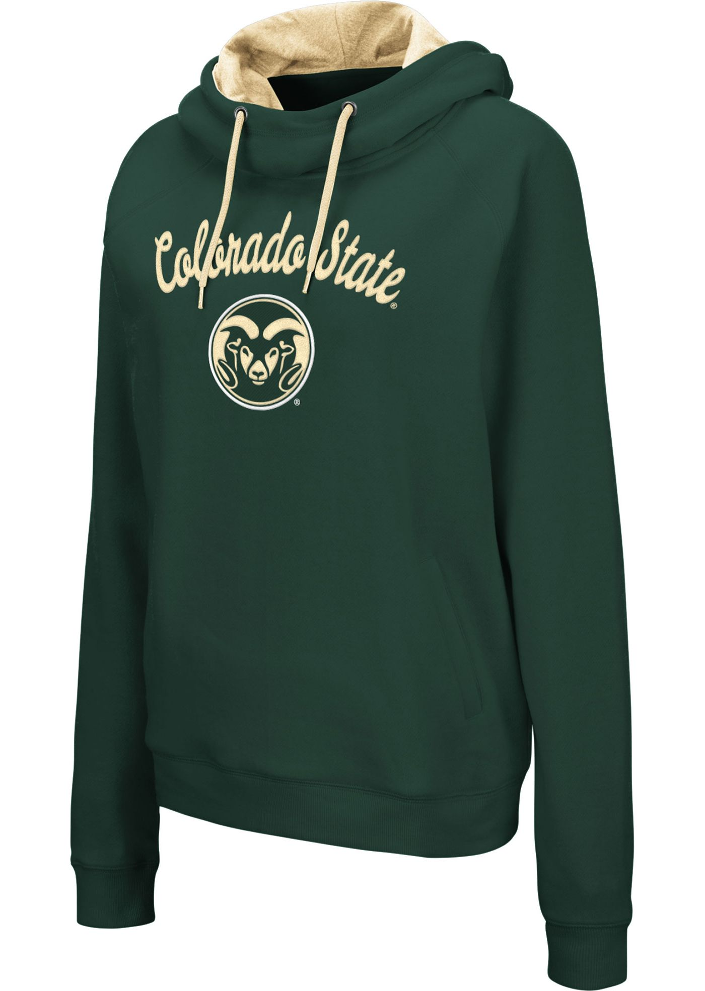 Colosseum Women's Colorado State Rams Green Louise Pullover Sweatshirt