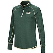 Colosseum Women's Colorado State Rams Green Stingray Quarter-Zip Shirt