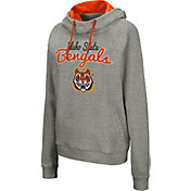 Colosseum Women's Idaho State Bengals Grey Studio Funnel Pullover Hoodie
