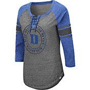 Colosseum Women's Duke Blue Devils Grey Carrie Long Sleeve T-Shirt