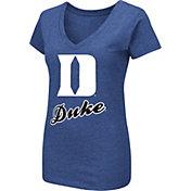 Colosseum Women's Duke Blue Devils Duke Blue Dual Blend V-Neck T-Shirt