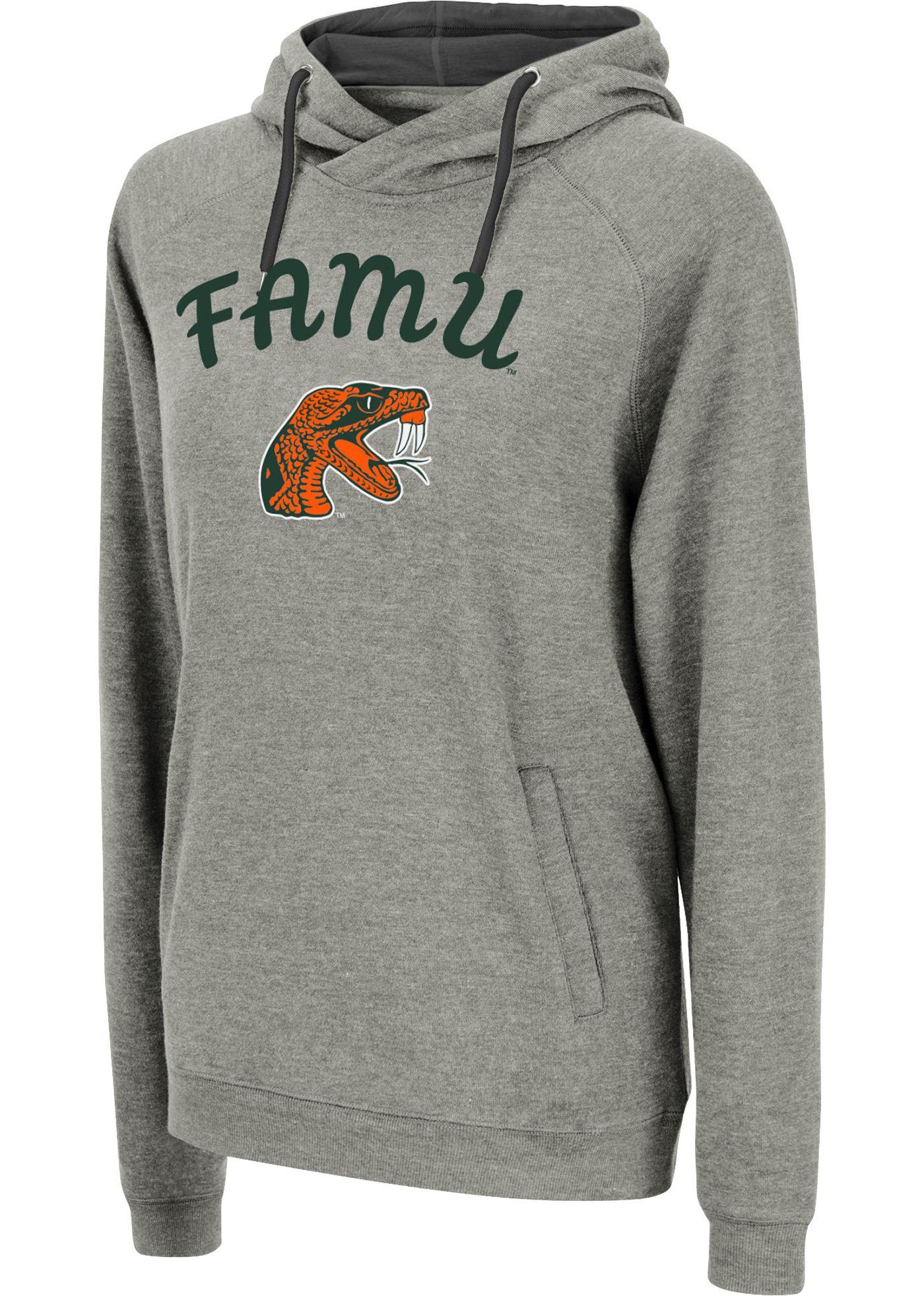 Colosseum Women's Florida A&M Rattlers Grey Funnel-Neck Pullover Sweatshirt