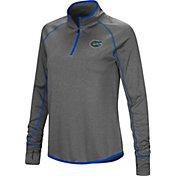 Colosseum Women's Florida Gators Grey Stingray Quarter-Zip Shirt