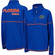 Colosseum Women's Florida Gators Blue Horsetail Half-Zip Shirt