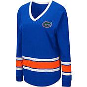 Colosseum Women's Florida Gators Blue Alrighty Long Sleeve T-Shirt