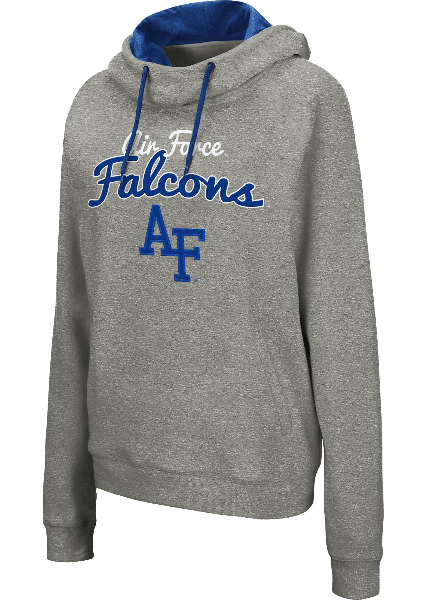 Colosseum Women's Air Force Falcons Grey Studio Funnel Pullover Hoodie