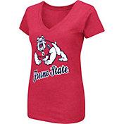Colosseum Women's Fresno State Bulldogs Cardinal Dual Blend V-Neck T-Shirt