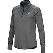 Colosseum Women's Gonzaga Bulldogs Grey Stingray Quarter-Zip Shirt