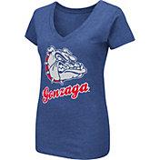 Colosseum Women's Gonzaga Bulldogs Blue Dual Blend V-Neck T-Shirt