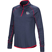 Colosseum Women's Gonzaga Bulldogs Blue Stingray Quarter-Zip Shirt