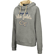 Colosseum Women's Georgia Tech Yellow Jackets Grey Studio Funnel Pullover Hoodie
