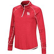 Colosseum Women's Houston Cougars Red Stingray Quarter-Zip Shirt