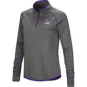 Colosseum Women's James Madison Dukes Grey Stingray Quarter-Zip Shirt