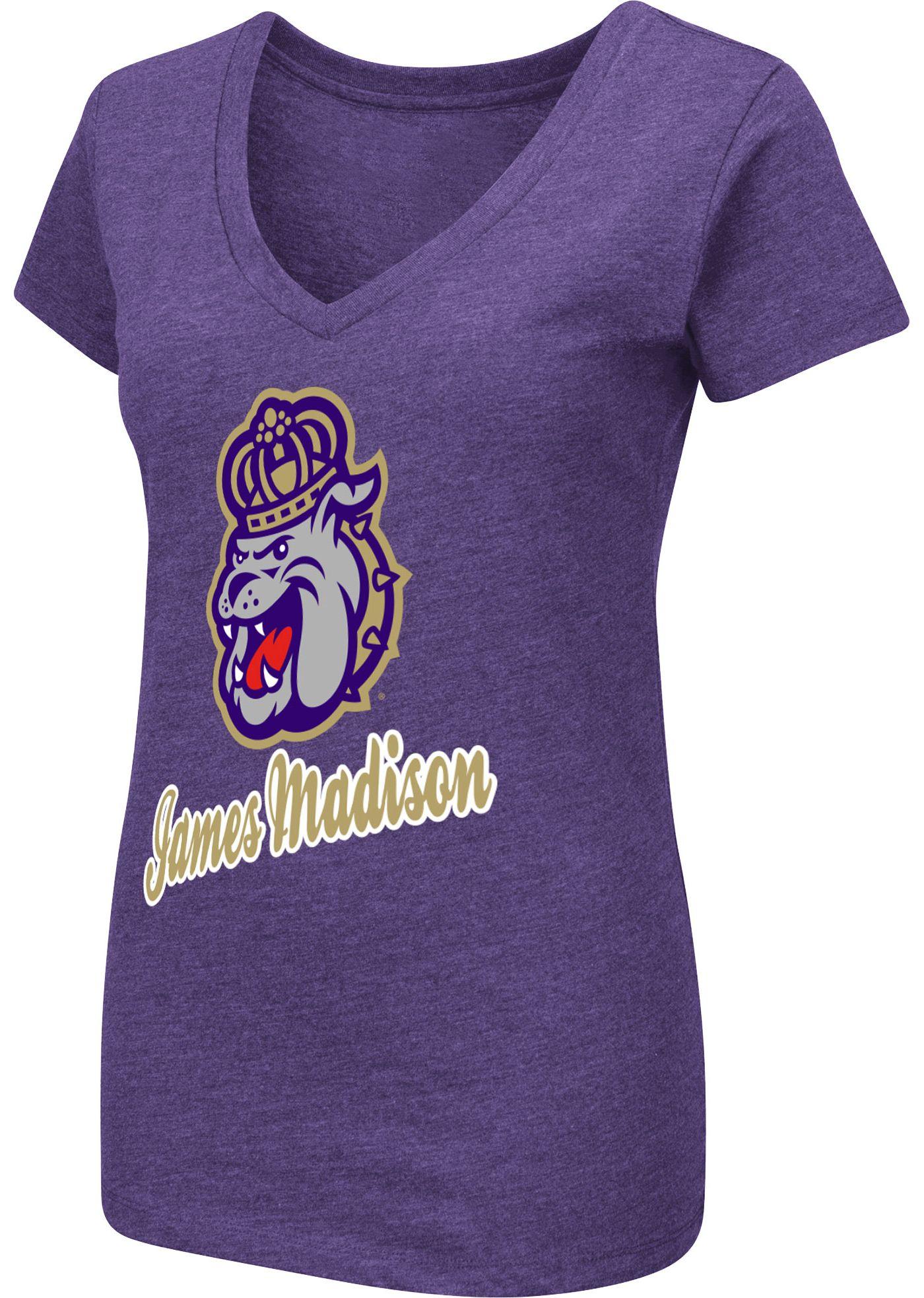 Colosseum Women's James Madison Dukes Purple Dual Blend V-Neck T-Shirt