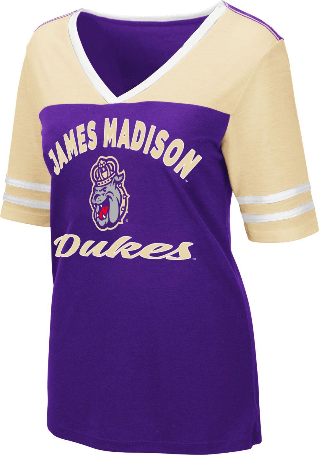 on sale bbb96 966b0 Colosseum Women's James Madison Dukes Purple Samantha T-Shirt